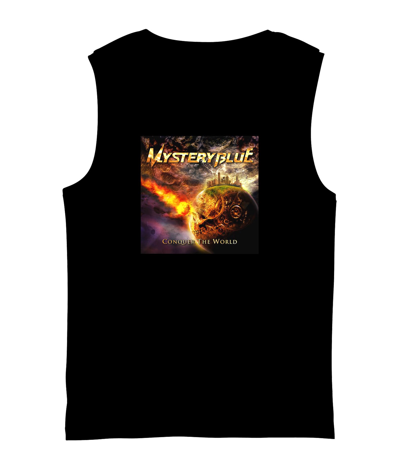 Conquer The World Sleeveless Shirt